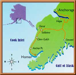 Homer Floatplane Lodge & Cabins ~ Bear viewing and more from ... on chugiak ak map, homer airport, homer ak, anchorage wetlands map, homer beach, sitka ak map, nanwalek map, anchorage to fairbanks map, homer arkansas, homeric map, homer family, homer cartoon, homer alska, seward map, homer party, ak us map, whittier to anchorage map, kilcher homestead map,